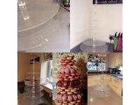 WEDDING HIRE Krispy Kreme stand,props,easel,suitcase, milk churn hessian runners decorations