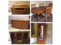 Table and Cabinets: Morris Furniture - sold separately or together