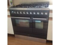 Six hob, double oven Britannia dual fuel range cooker in excellent condition for sale