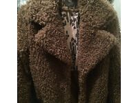 Next teddy bear fur jacket