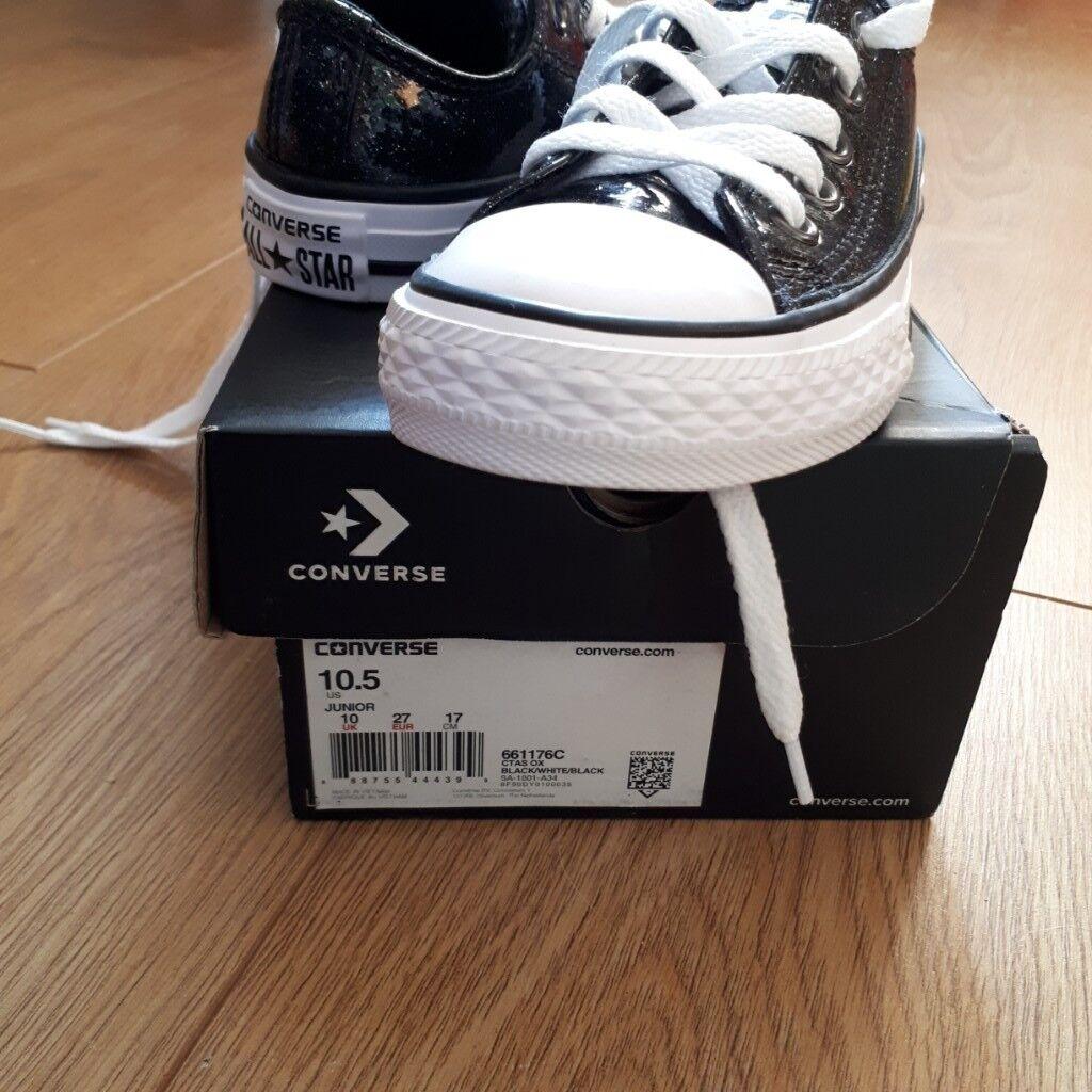 Black sparkle converse size 10  cd3f78cf6