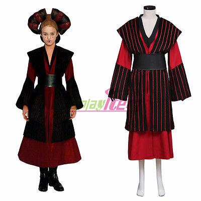 Star Wars Episode1 Cosplay Costume Queen Padme Amidala adult Costume custom - Adult Padme Costume