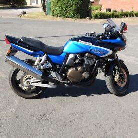 Kawasaki ZRX 1200 S, Blue, Genuine Low Mileage (14,670), Yr 2002, Very Clean for a 16 yr old bike.