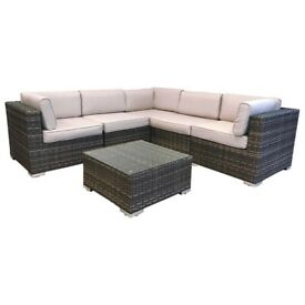 NEW** Radeway 6 Piece Sectional Wicker Rattan Corner Sofa Furniture ...