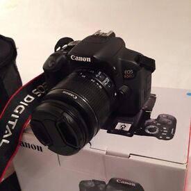 Canon 650D/Rebel T4i with 18-55mm lens, carry bag and accessories