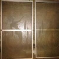 glass shower doors with track