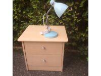 Bedside cabinet & lamp