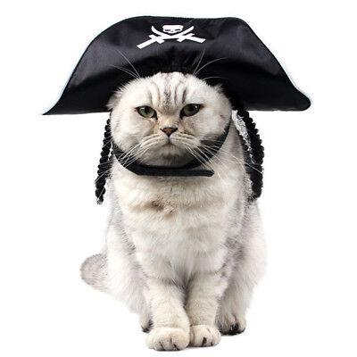 Piratenhut Pirat Kapitän Hut Cosplay Kostüme für Haustier Hund Katze ()