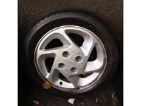 Rs turbo alloy wheel