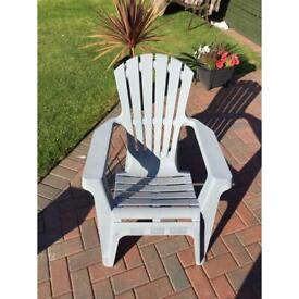 Large garden chairs x4