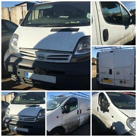 Nissan Primaster Vauxhall Vivaro se Dci100 SWB 1870cc White 2004 front bumper all parts available