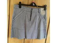 BRAND NEW striped mini skirt from Tu.