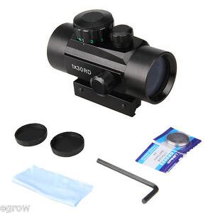 Leuchtpunktvisier 1x 30mm Red & Green Dot Sight Leuchtpunkt - Zielgerät Opti