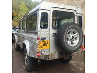 defender 2003 high miles with low miles engine spares repair project
