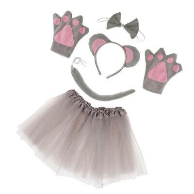 Maus Tier Handschuhe Stirnband Tutu Schleife Schwanz Kinder Kit Set - Band Tutu Kind Kostüm