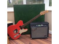 Fender g-Dec amp with stagg telecaster