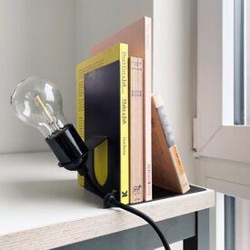 Frama Library Lamp Bulb Shelf Industrial bookstand