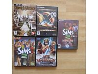 Five PC Games job lot. Incl The Sims