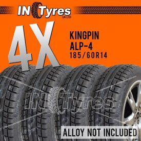 4x 185/60r14 Kingpin Alp4 185 60 14 Banger Racing Autograss 60Shore Alaska Tyres