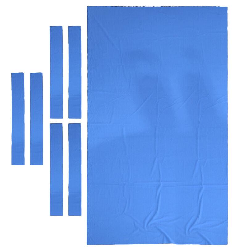High Performance Pool Table Felt Billiard Cloth Table Bed Cushion 8ft Blue