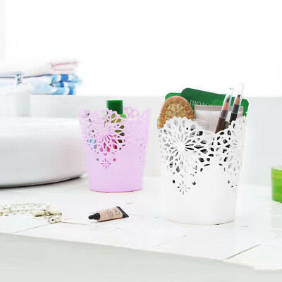 Hollow Flower Brush Storage Pen Pencil Pot Holder Container Desk Organizer Gift - Gift Containers