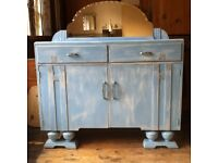 Art Deco Style Shabby Chic Sideboard Cabinet with Mirror / Can Deliver