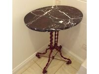 Pretty Parisian style table with marble top