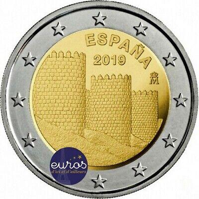 2 euros commémorative espagne 2019 - avila et ses églises extra-muros - unesco