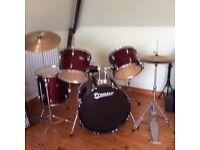 Premier Olympus Drum kit including stool & silencer pads