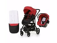 Hauck Colt All-in-One Travel System (Convertible pram/seat unit & group 0+ carseat), Red colour