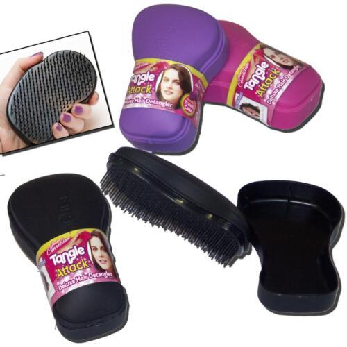 Tangle Attack Hair Detangler Detangle Brush Mirror Travel