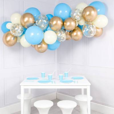 Blue and Gold Balloon Garland Kit - DYI 56 piece kit](Blue And Gold Balloons)