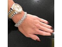 Handmade silver molecule bracelet