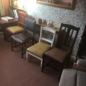 Various old chairs