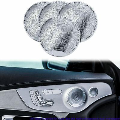Door Audio Speaker Sound Cover Chrome Trim For Mercedes Benz C300 C250 GLC Class