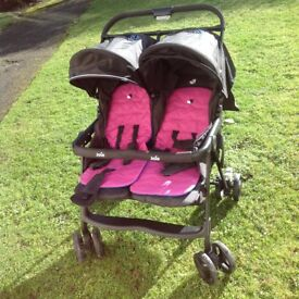 JOIE AIRE TWIN STROLLER PINK COLOUR