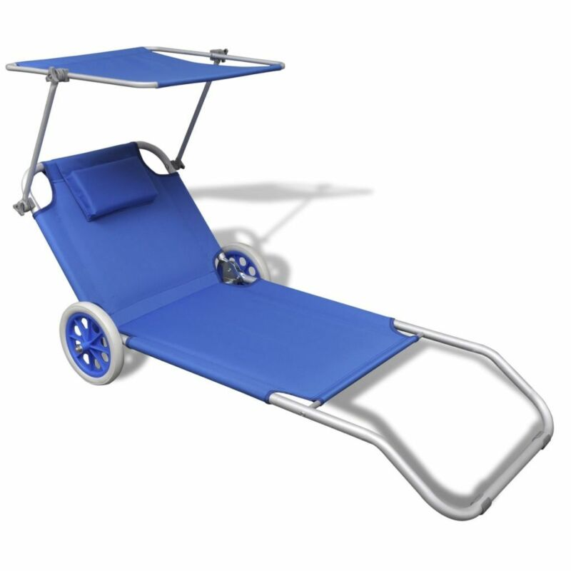 Patio Beach Garden Chaise Lounge Sunbed Folding Chair w/ Can