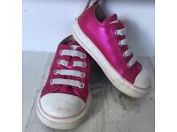 Converse metallic pink elasticated size 5 Infant shoes