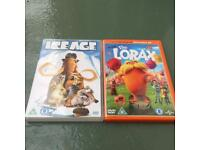 IceAge and Lorax DVD