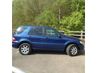 Mercedes ML 2.7CDI Lovely example for year, Fully loaded 7 seater with air con & sun roof