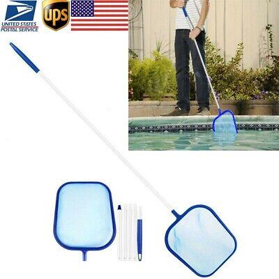 Swimming Pool Net Leaf Rake Mesh Skimmer with Telescopic Pole Pools Spas Cleaner