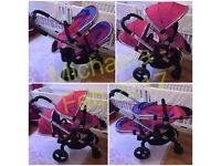 Excellent condition iCandy Peach 3 Double pram