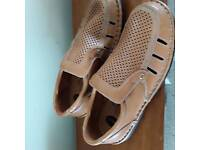 Men's leather hand made shoes as new size 42