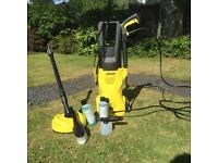 Karcher K2 powerhose with accessories barely used