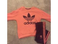 Baby girls Adidas Tracksuit Set 12-18 months