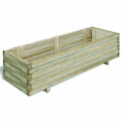 vidaXL Rectangular Wooden Planter 120x40x30cm Garden Flower Pot Bed Basket