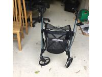 Used once walking aid, with seat, top quality, holds easily made by Gemini