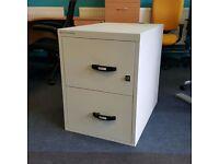 2 Drawer Fireproof Filing Cabinet