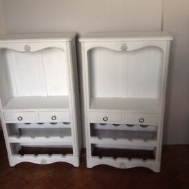 Two pretty drinks/glasses cabinets