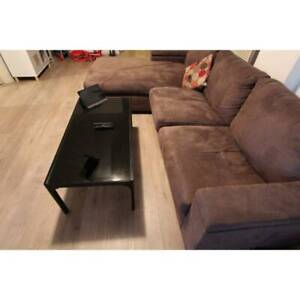 ~ RRP $300 ~ Coffee Table Steel Metal Frame Glass Top Black St Kilda East Glen Eira Area Preview